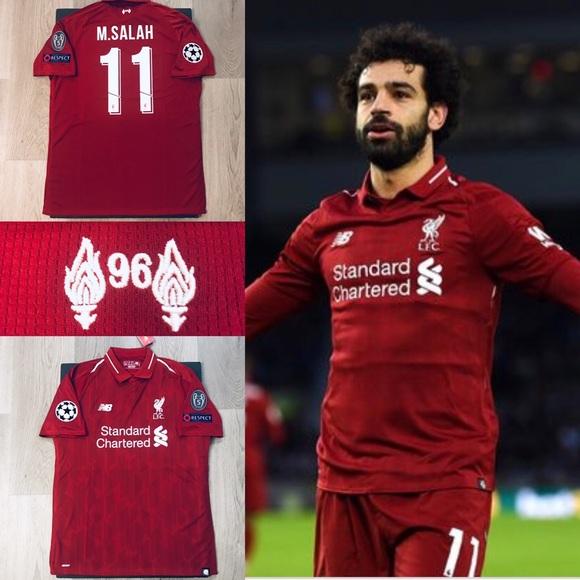 new styles 1fe4d 61d3a Mohamed Salah soccer jersey Liverpool home XL NWT